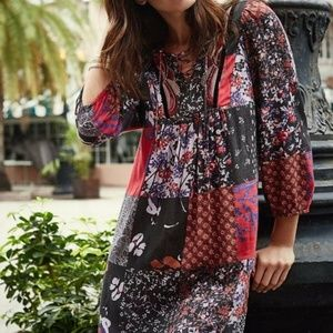 Anthropologie One September Arcata Patchwork Dress